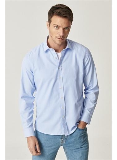 Altınyıldız Classics Tailored Slim Fit Klasik Gömlek Yaka Armürlü Gömlek 4A2021100129 Beyaz